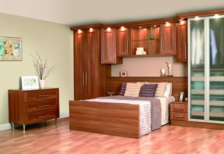Sweet Fitted Sliding Wardrobe Small His Hers Light Walnut B  Bedrooms:  Wardrobes For Small