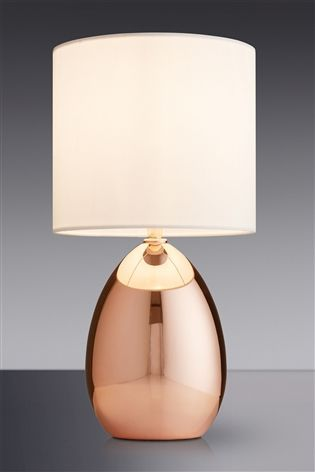 Buy Small Rose Gold Effect Touch Droplet Table Lamp from the Next UK online  shop