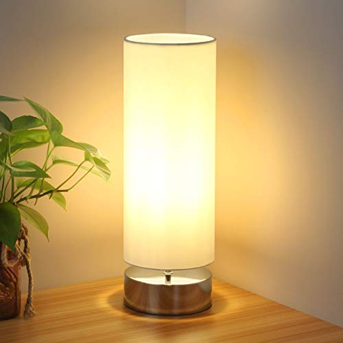 Touch Control Table Lamp Bedside Minimalist Desk Lamp Modern Accent Lamp  Dimmable Touch Light with Cylinder