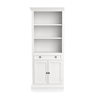 Cameo White Left Storage Bookcase