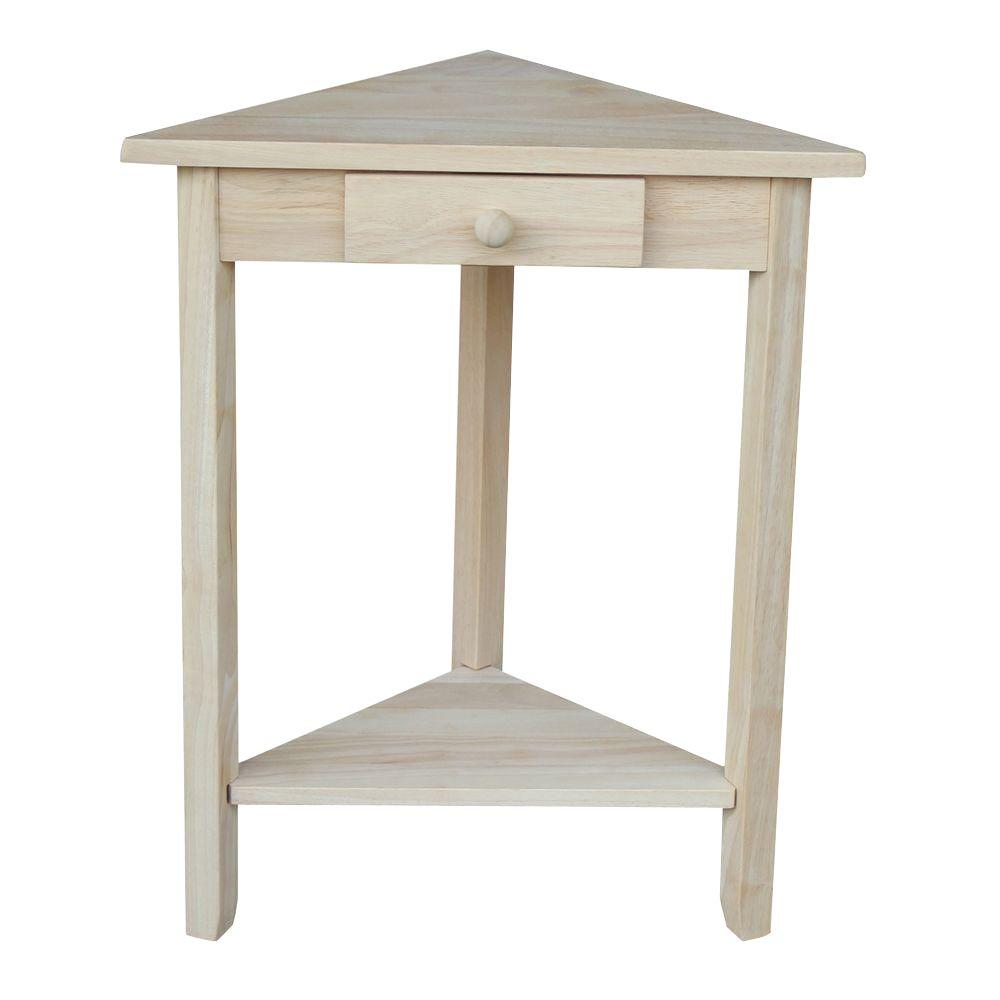 International Concepts Unfinished Storage End Table-OT-95 - The Home Depot