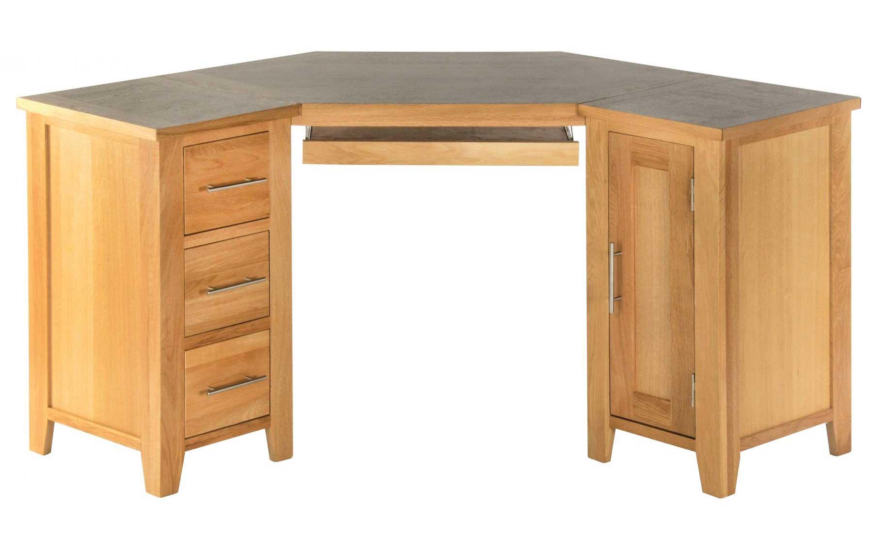 Wooden Small Corner Computer Desk