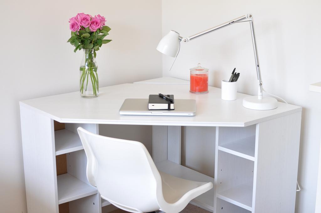 Small Corner Desk IKEA Shelf