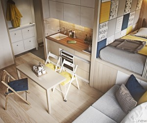 Small House Home Design Ideas. 4 Cute and Stylish Spaces Under 50  Square Meters