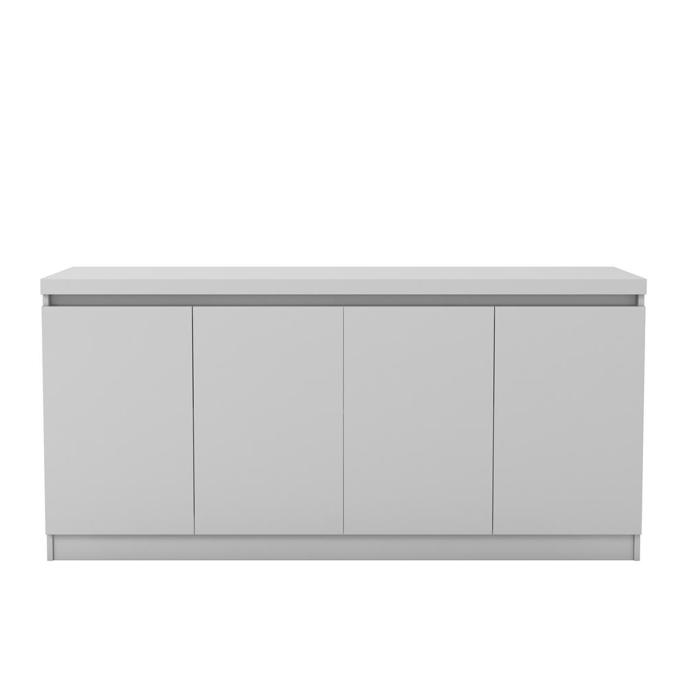 White Gloss 6-Shelf Buffet Cabinet