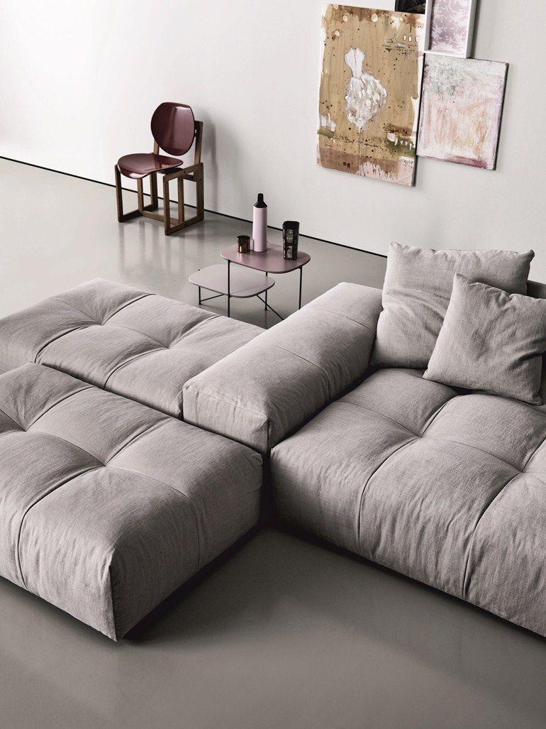 Modular upholstered sofa PIXEL - Saba Italia More
