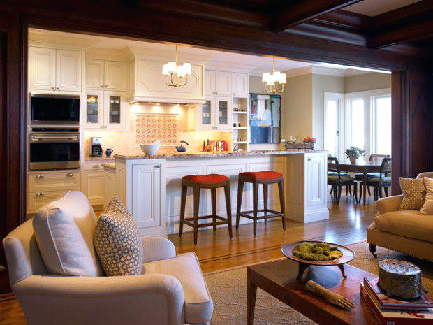 Small Open Kitchen And Living Room Open Concept Kitchen Living Room