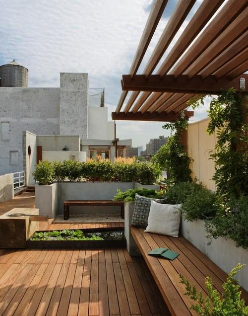 rooftop garden design, rooftop garden ideas, and diy rooftop garden image