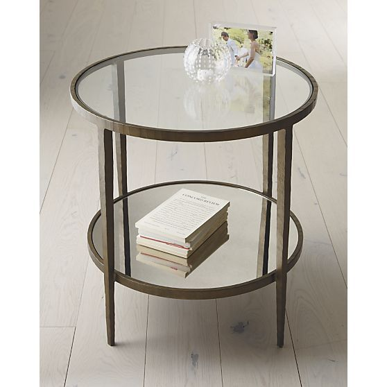 Clairemont Round Side Table Side Tables Crate And Barrel And Crates Glass  Accent Table
