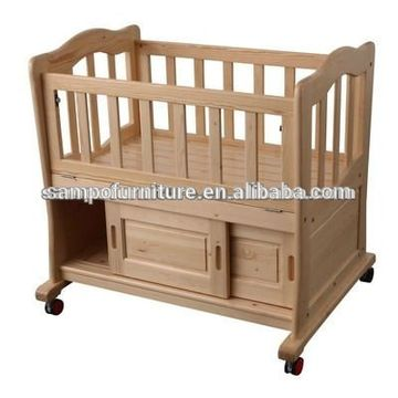 Small wood baby crib/adult cradle/baby cradle | Global Sources