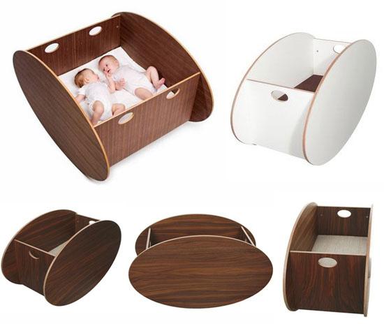So-ro Modern Wooden Baby Cradle u2013 DIY Kids Stamping & Printing
