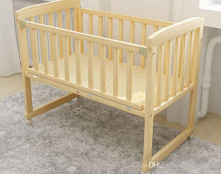 Baby Cot Cot Small Wooden Crib Cradle Bed Nets To Become Practical