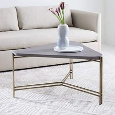 smart round marble top coffee table Download-west elm Concrete Triangle Coffee  Table 20-