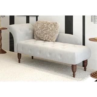 Skyline Furniture Velvet Fabric Modern Settee