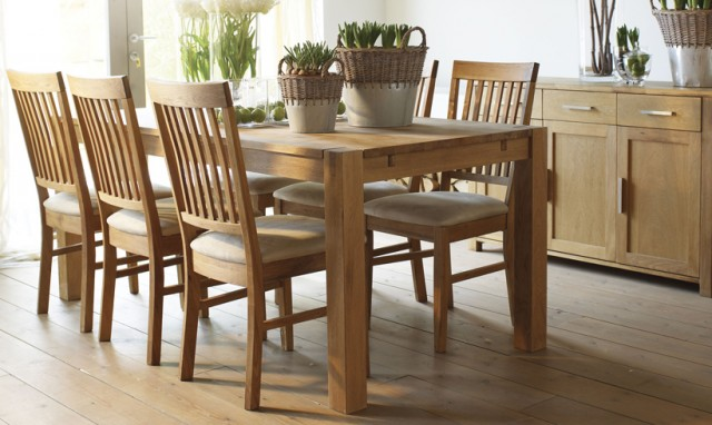 Lovely Dining Table And 6 Chairs Oak Room With For Decor 11