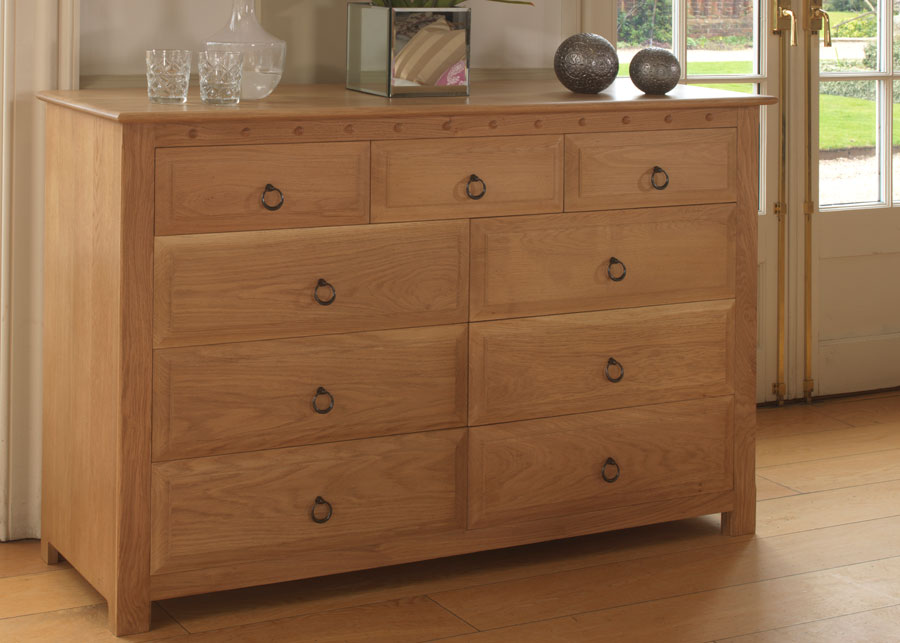 Movable and attractive solid wood bedroom chest of drawers for personal  needs