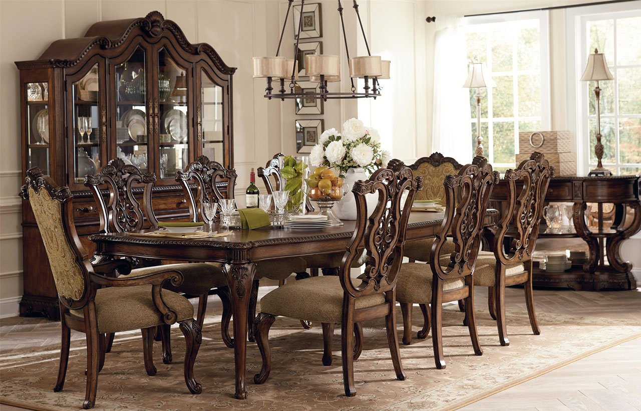 Charming Image Of Dining Room Decoration Using Round Black Metal