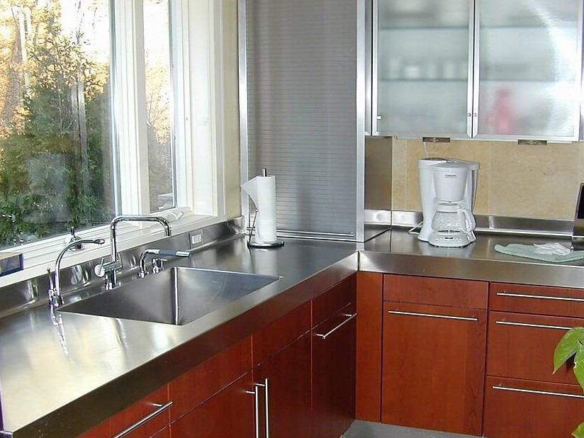 Custom Stainless Steel Perimeter Countertops Stainless Steel Kitchen