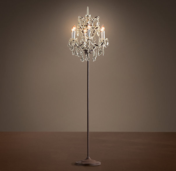 Lovely Standing Chandelier Floor Lamp Elegant : Home Decorations