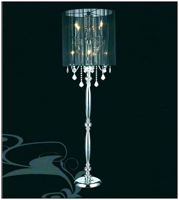 Standing chandelier floor lamp to  decorate your modern room