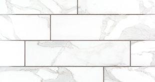 Dimarmi Bianco Stone Look Porcelain Tile - 6 x 24 - 100434638