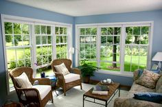 Fresco of Various Elegant and Comfortable Furniture for Casual Sunroom  without Making it Less Expensive Sunroom