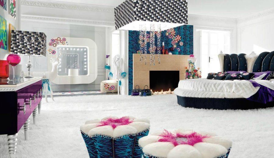 Dream Bedroom for Teen Girl colorful blue girl bedroom home teenager  inspiration ideas teen