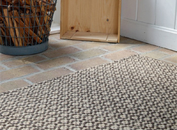 Hook & Loom thick woven natural wool rugs