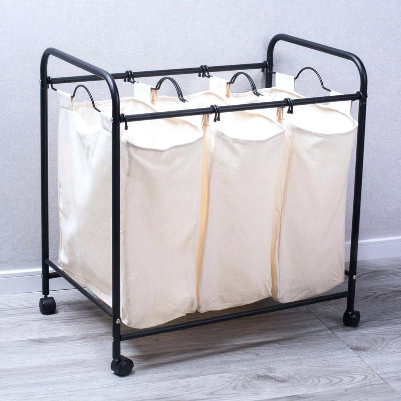 three bin laundry hamper laundry hamper with triple sorter 3 bin laundry  hamper 3 bin laundry .