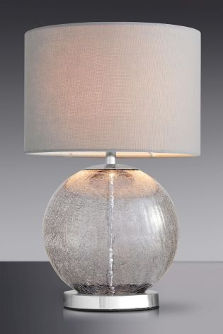 Bassett Mirror Dania Modern Pearl White Drum Table Lamp | Modern