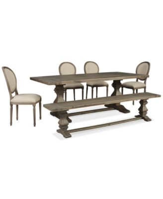 Furniture Tristan Trestle Dining Furniture, 6-Pc. Set (Trestle