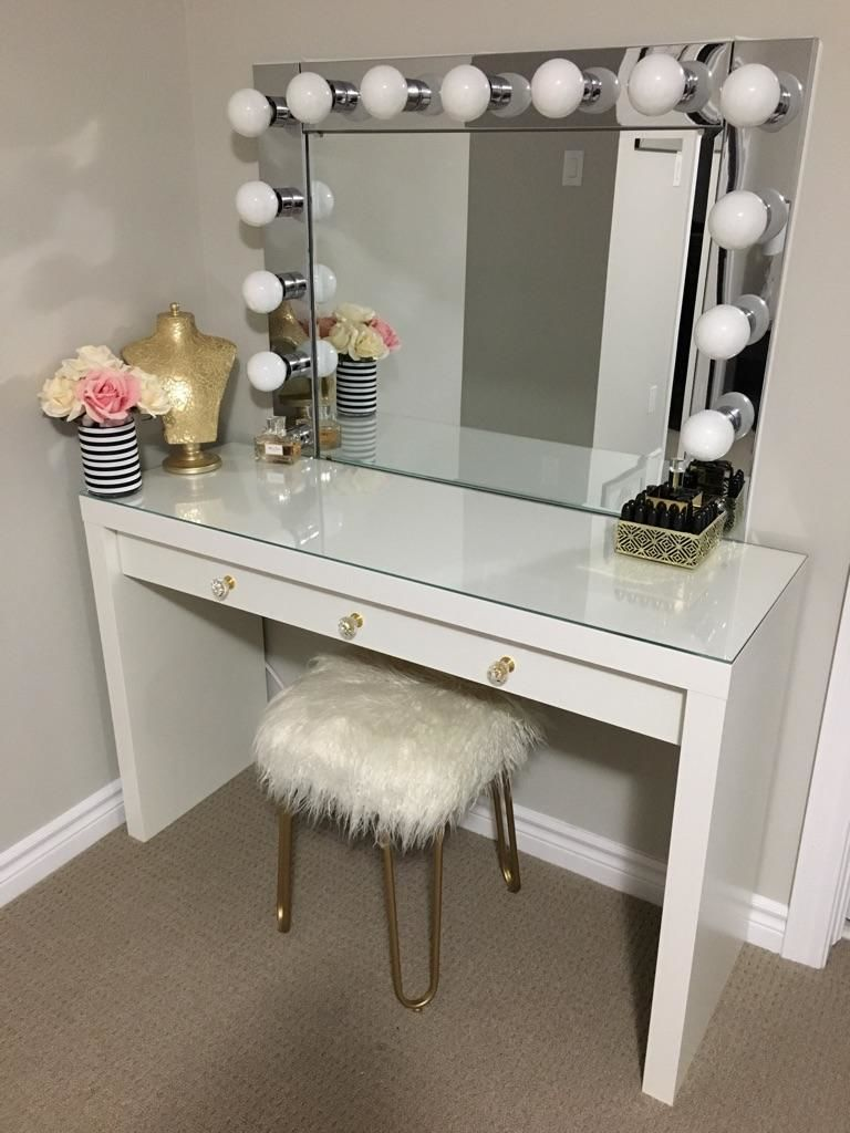 Picture of VANITY MIRROR WITH DESK & LIGHTS