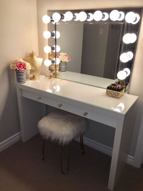 Design ideas for best vanity desk with   mirror and lights