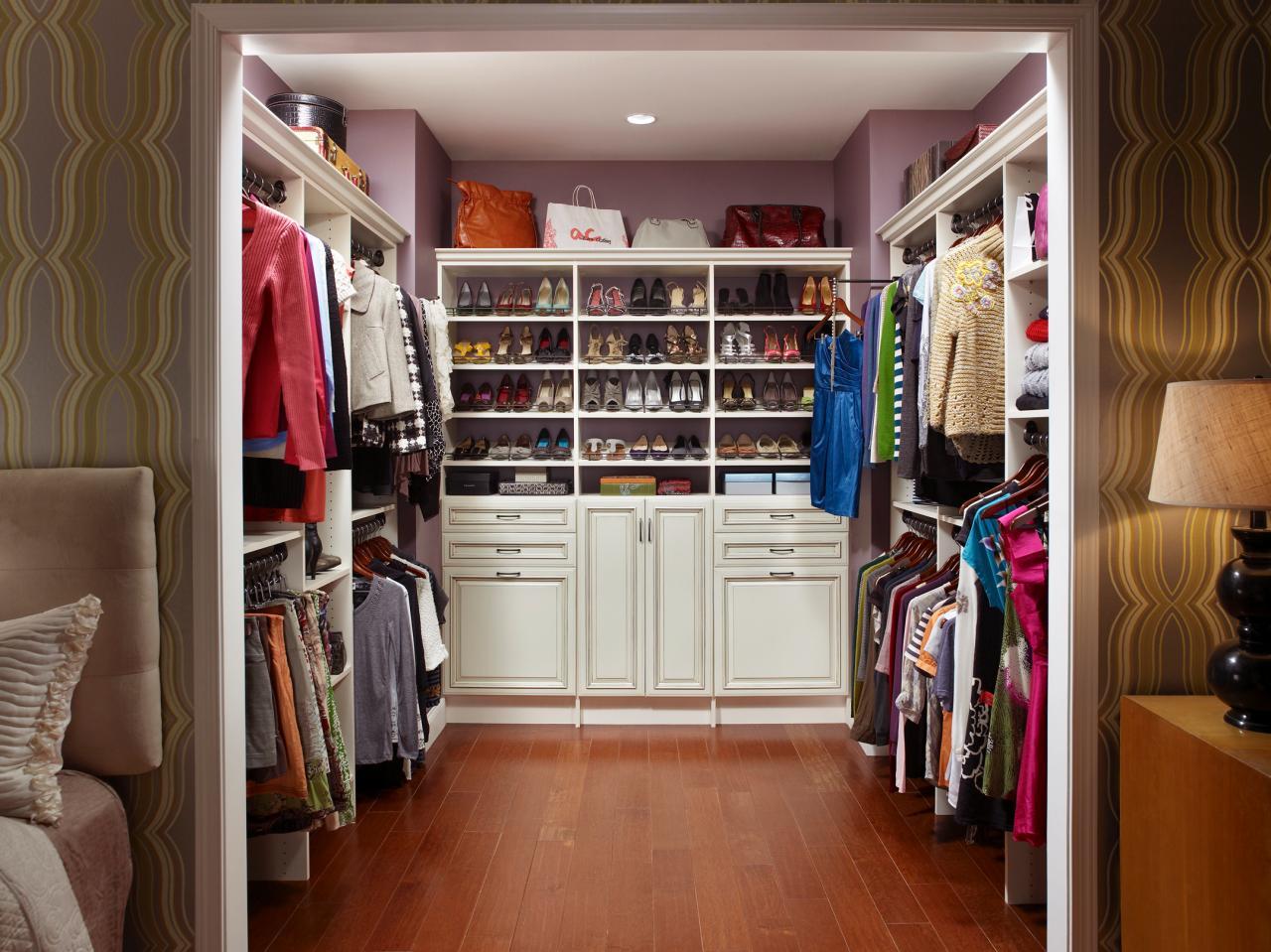 Showcase Shoes in a Walk-In Closet
