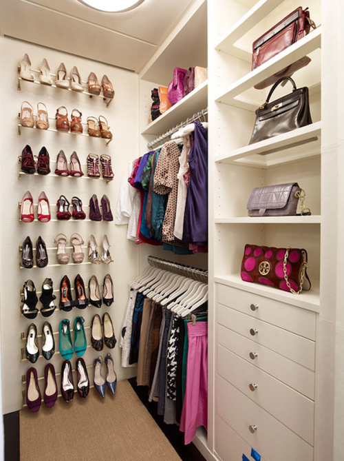 20 Incredible Small Walk-in Closet Ideas & Makeovers | The Happy Housie