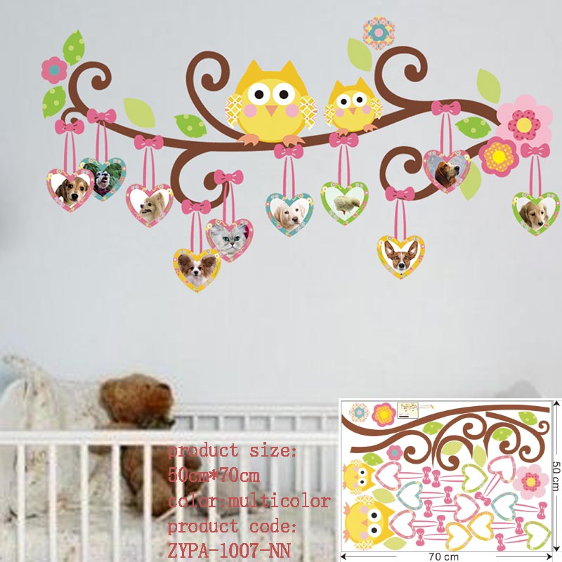 owl wall stickers for kids room decorations animal decals bedroom nursery  removable tree wall art children stikcer zooyoo1006 – Wall Stickers