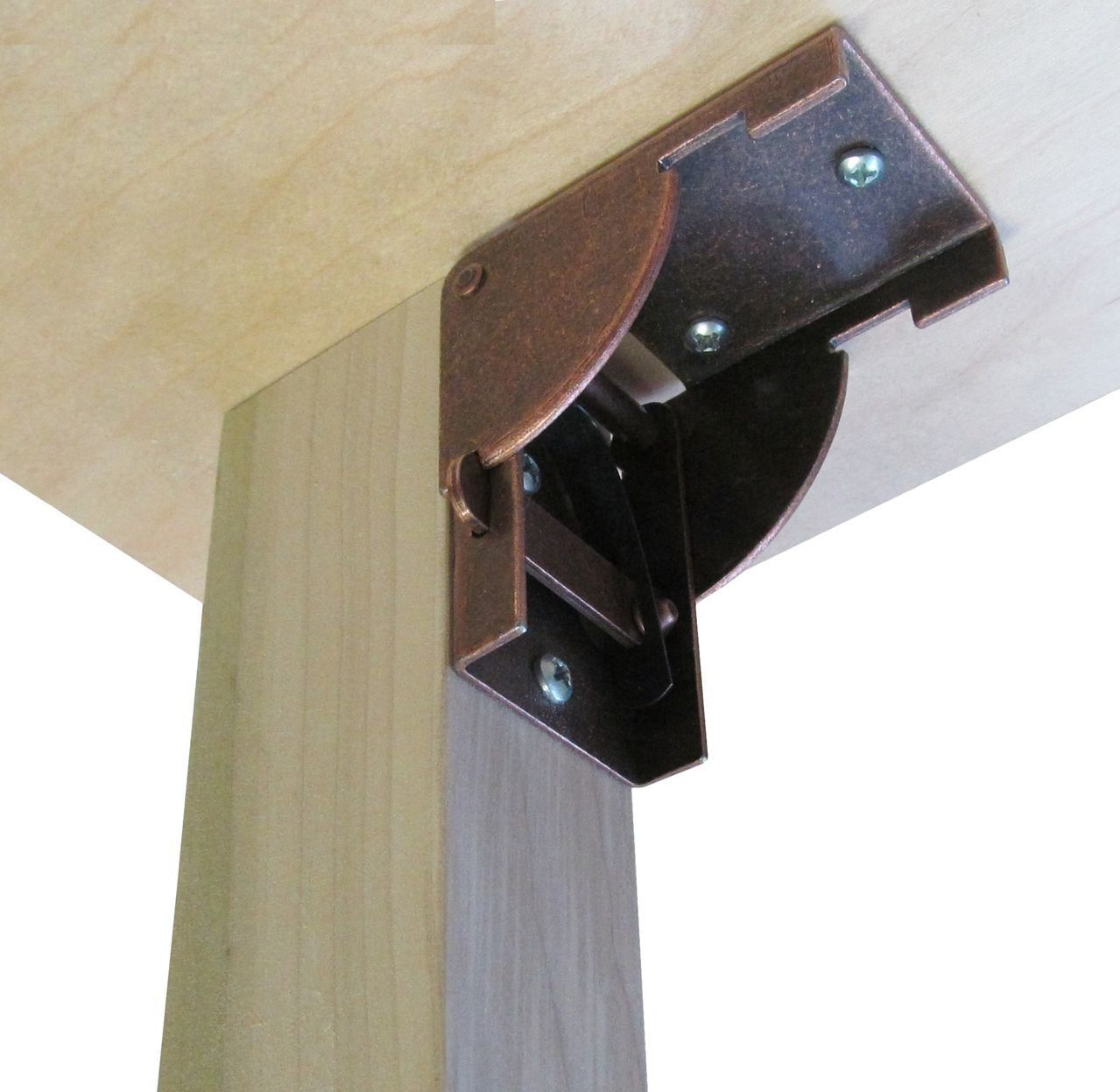 D.H.S. Posi-Lock Folding Leg Bracket for Wall Mounted Work Bench / Fold  Down Table (2 pcs.) - - Traveller Location