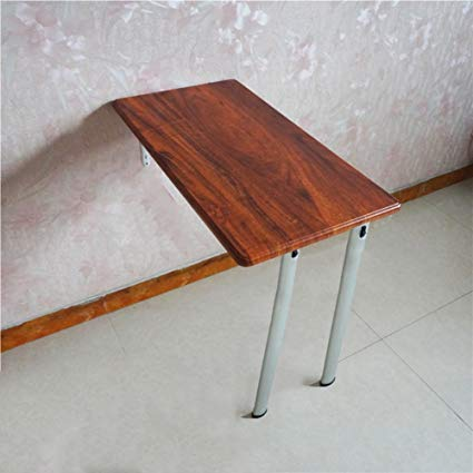 Traveller Location: Folding Dining Table Wall-Mounted Drop-leaf Table Kitchen Space  Saver Fold Convertible Desk 7440cm (Color : Red wood grain, Size : One leg):