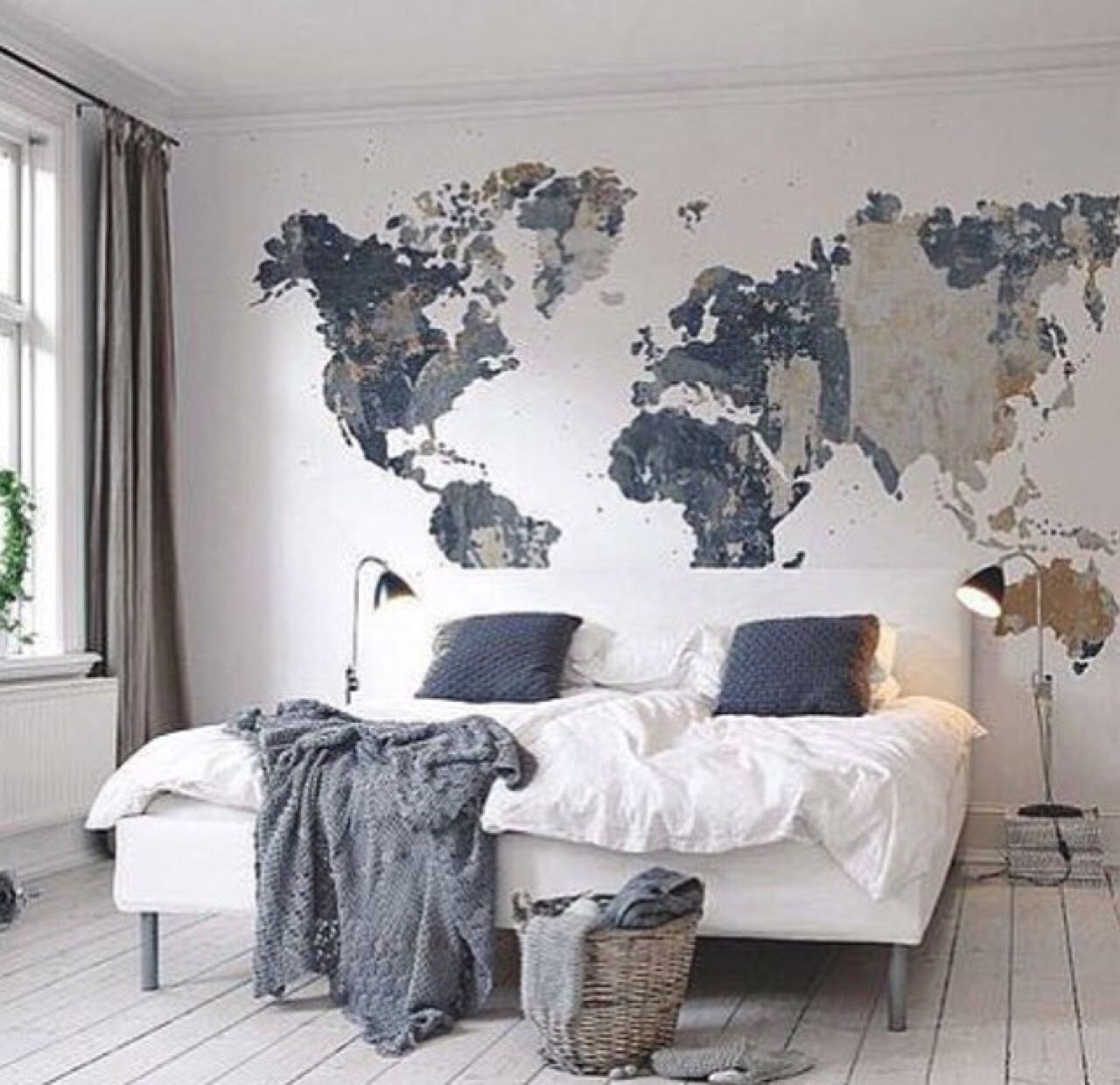 cool map mural See various wall mural designs at http://www.inkshuffle