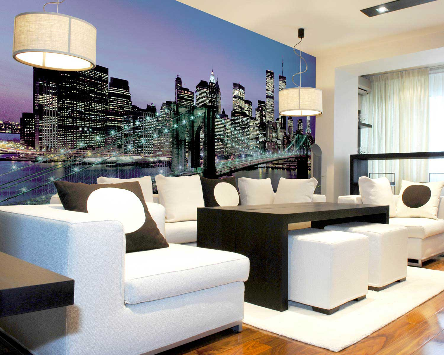 Manhatten Lights Wall Mural