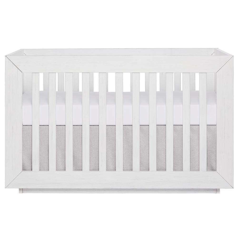 Evolur Maddox Modern Weathered White Convertible Crib-855-WW - The Home  Depot