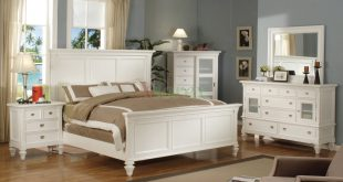 White Bedroom Set with Tall Headboard King and Queen Beds 126 | Xiorex