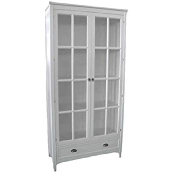 Amazon.com: Wayborn Birchwood Bookcase w Glass Doors 351169: Kitchen