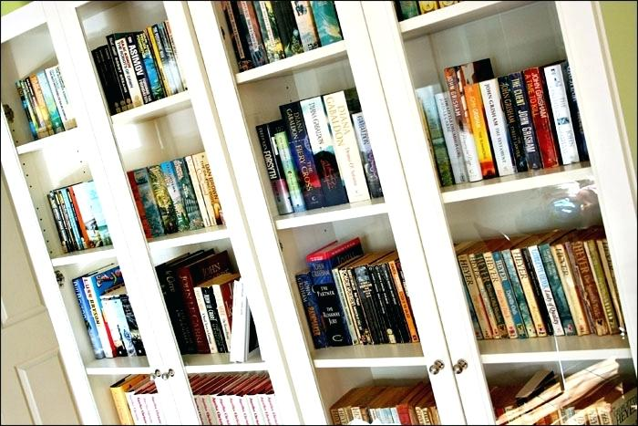 Bookcase With Glass Doors White White Glass Door Bookcase White