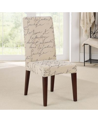 Sure Fit Waverly Stretch Pen Pal Short Dining Room Chair Slipcover, White