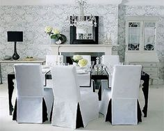 White Dining Room Chair Slipcovers - Home Furniture Design