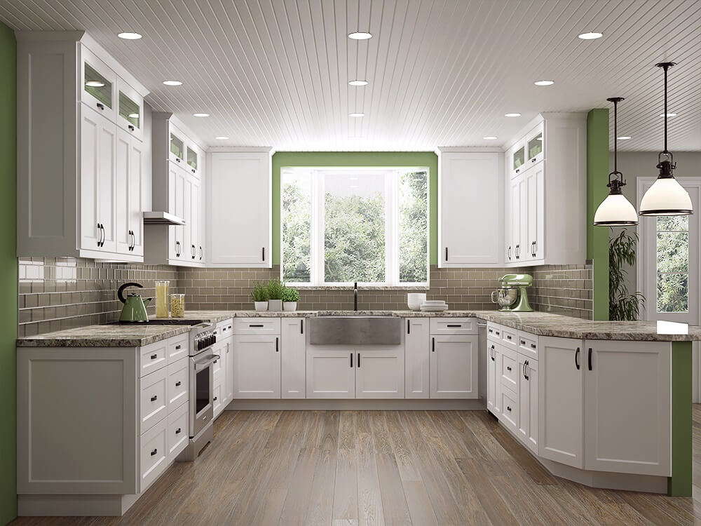 White Shaker Kitchen Cabinets. Up to 40% off retail
