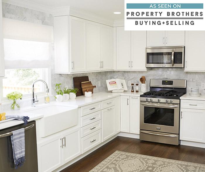 More Rooms in This Gallery. White shaker style kitchen cabinets.  DavisCSeaWellsMEgrWortheLElkK