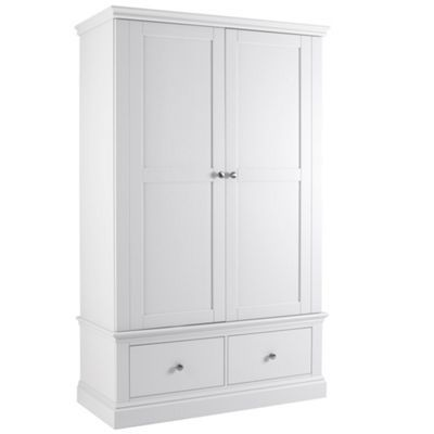 Debenhams White 'Oxford' double wardrobe with drawers- at Debenhams