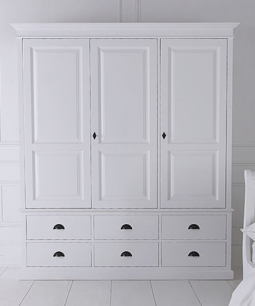 white wardrobes with drawers breton triple wardrobe with six drawers